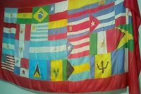 Nations Flag: Carribean, South & Central Americas