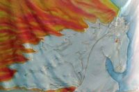 "Hand-painted ""Horse on Fire"" Swing Flag Set"